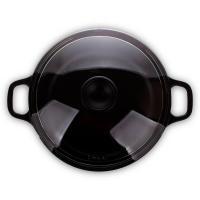 Кастрюля с крышкой чугунная эмалированная 2,3 л Invicta Taupe темно-серая - 1 фото