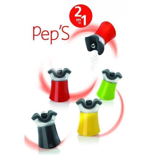Набор мельниц для перца и солонка 2-в-1 Peugeot Pep's зеленый - 1 фото