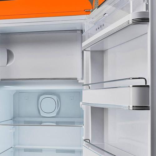 Холодильник однокамерный 153х60 см Smeg 50's Style FAB28ROR3 оранжевый - 3 фото