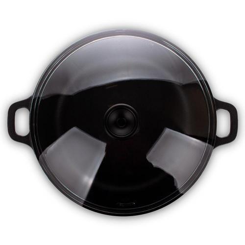 Кастрюля с крышкой чугунная эмалированная 3,8 л Invicta Taupe темно-серая - 3 фото