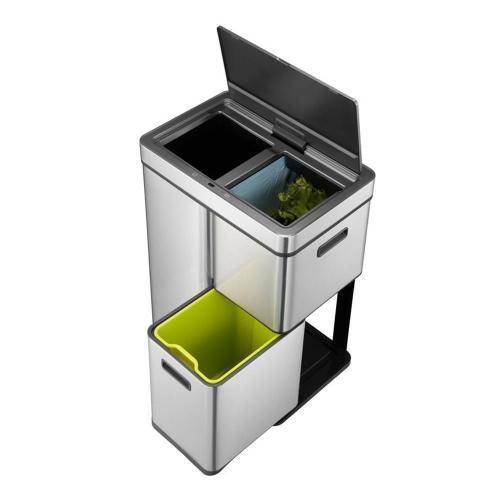 Сенсорное мусорное ведро 30+15+15 л Eko Mirage Plus - 6 фото