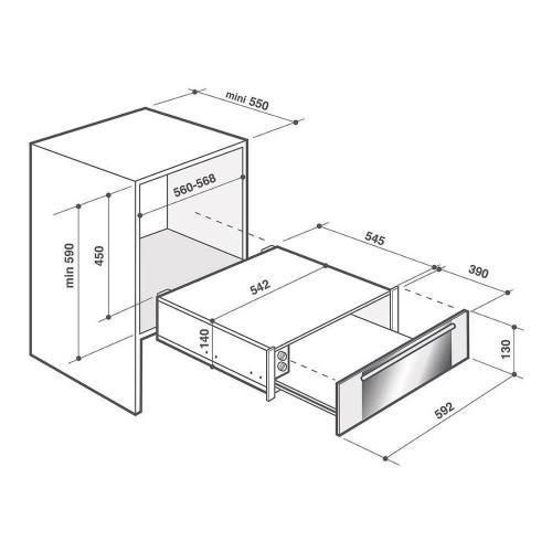 Шкаф для подогрева посуды De Dietrich Pure White DWD7400W - 5 фото