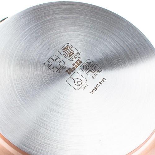 Сковорода антипригарная глубокая 28 см Ibili Natura Copper - 5 фото