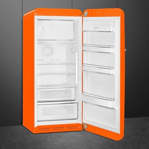 Холодильник однокамерный 153х60 см Smeg 50's Style FAB28ROR3 оранжевый - 2 фото