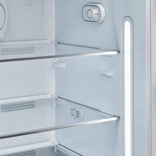 Холодильник однокамерный 153х60 см Smeg 50's Style FAB28ROR3 оранжевый - 5 фото