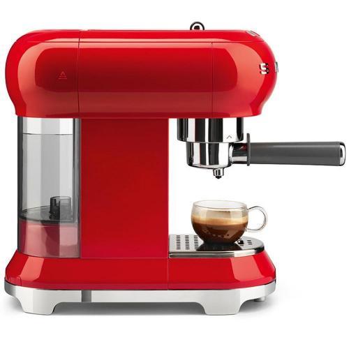 Кофемашина-эспрессо 30х33 см Smeg 50's Style ECF01RDEU красная - 3 фото