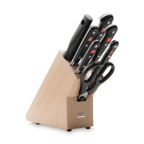 Набор ножей 7 предметов в подставке Wusthof Classic - 11 фото