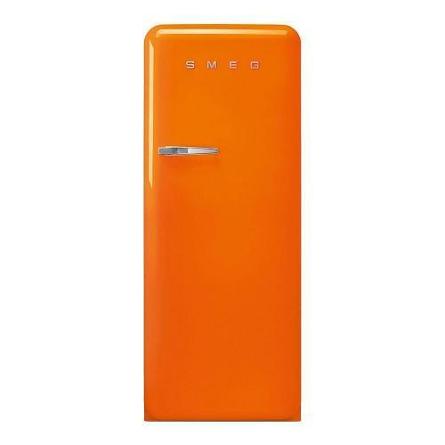 Холодильник однокамерный 153х60 см Smeg 50's Style FAB28ROR3 оранжевый - 7 фото