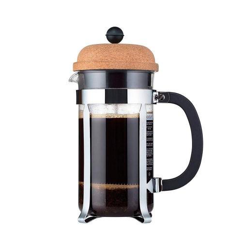 Кофейник с прессом 1 л Bodum Chambord пробковый - 1 фото