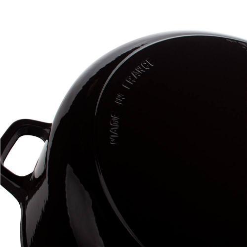 Кастрюля с крышкой чугунная эмалированная 3,8 л Invicta Taupe темно-серая - 6 фото