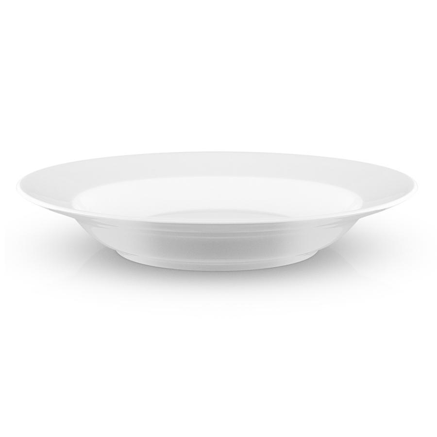 Тарелка суповая 25 см  Legio белая - 1 фото
