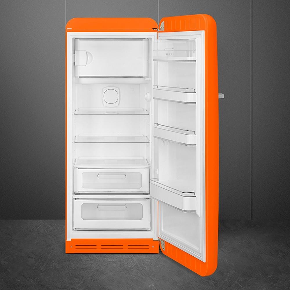 Холодильник однокамерный 153х60 см Smeg 50's Style FAB28ROR3 оранжевый - 1 фото