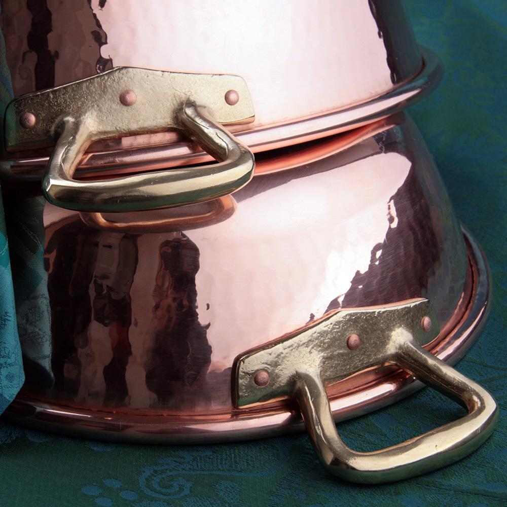 Тазик для варки варенья 9 л D 36 см, медь, с бронзовыми ручками Ruffoni Jam pot - 2 фото
