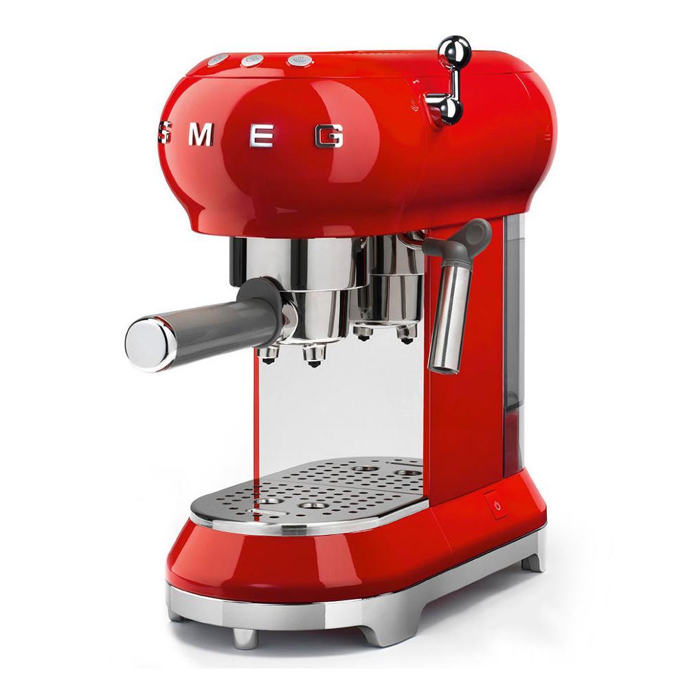 Кофемашина-эспрессо 30х33 см Smeg 50's Style ECF01RDEU красная - 9 фото