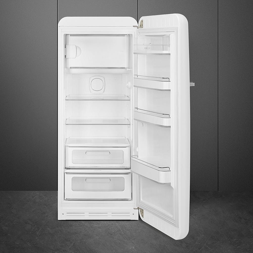 Холодильник однокамерный 153х60 см Smeg 50's Style FAB28RWH3 белый - 1 фото