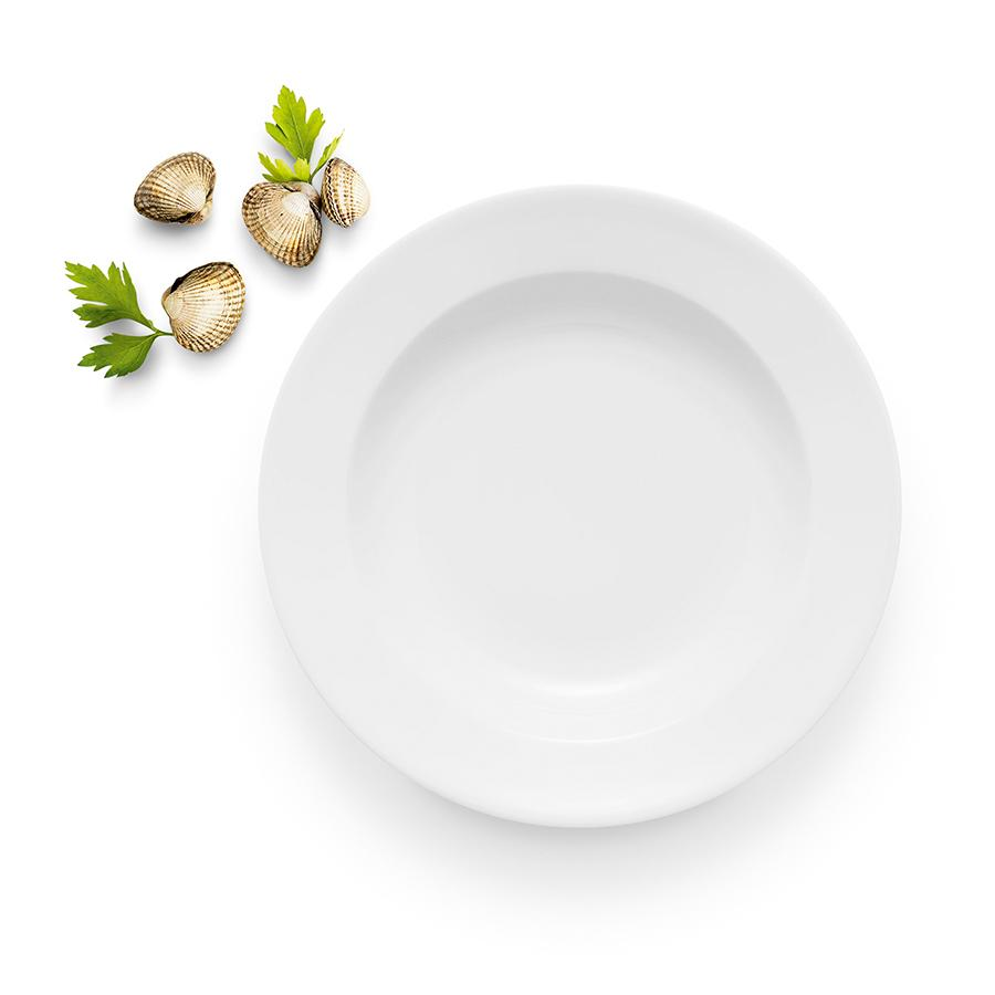 Тарелка суповая 25 см  Legio белая - 3 фото