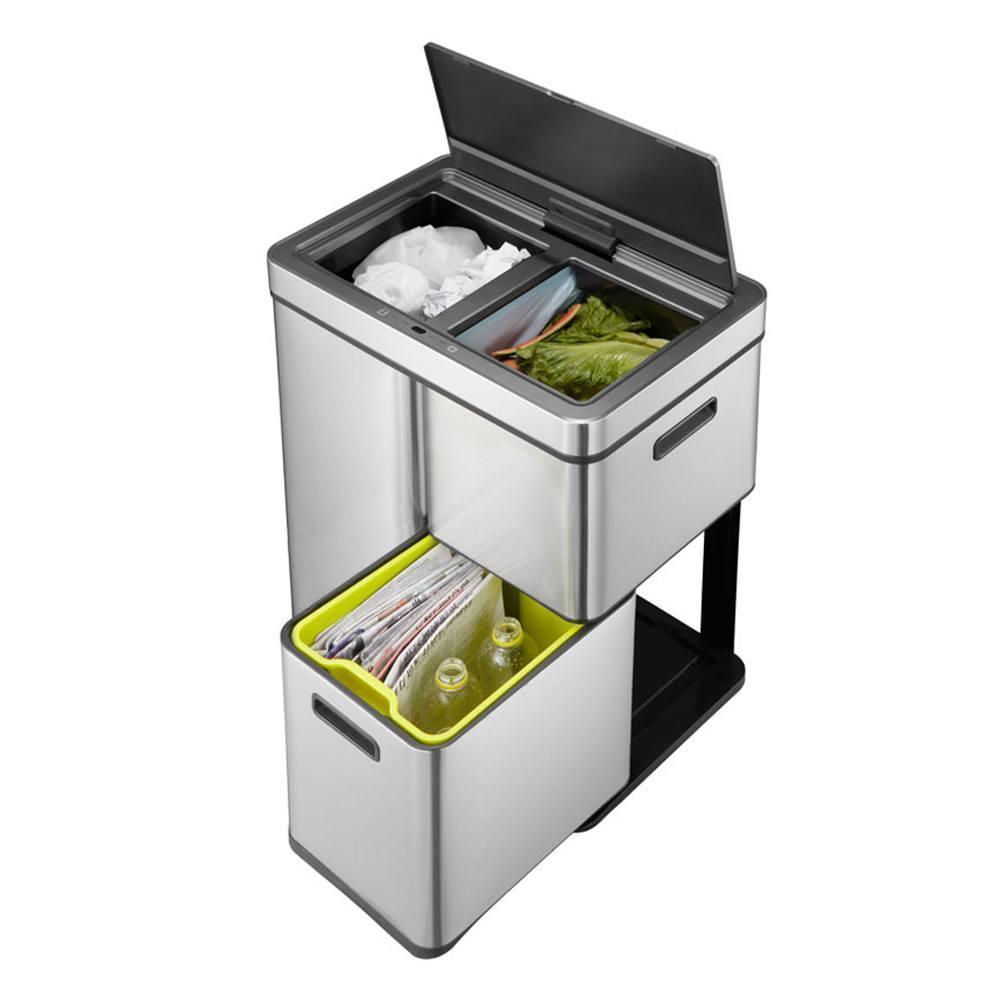 Сенсорное мусорное ведро 30+15+15 л Eko Mirage Plus - 7 фото