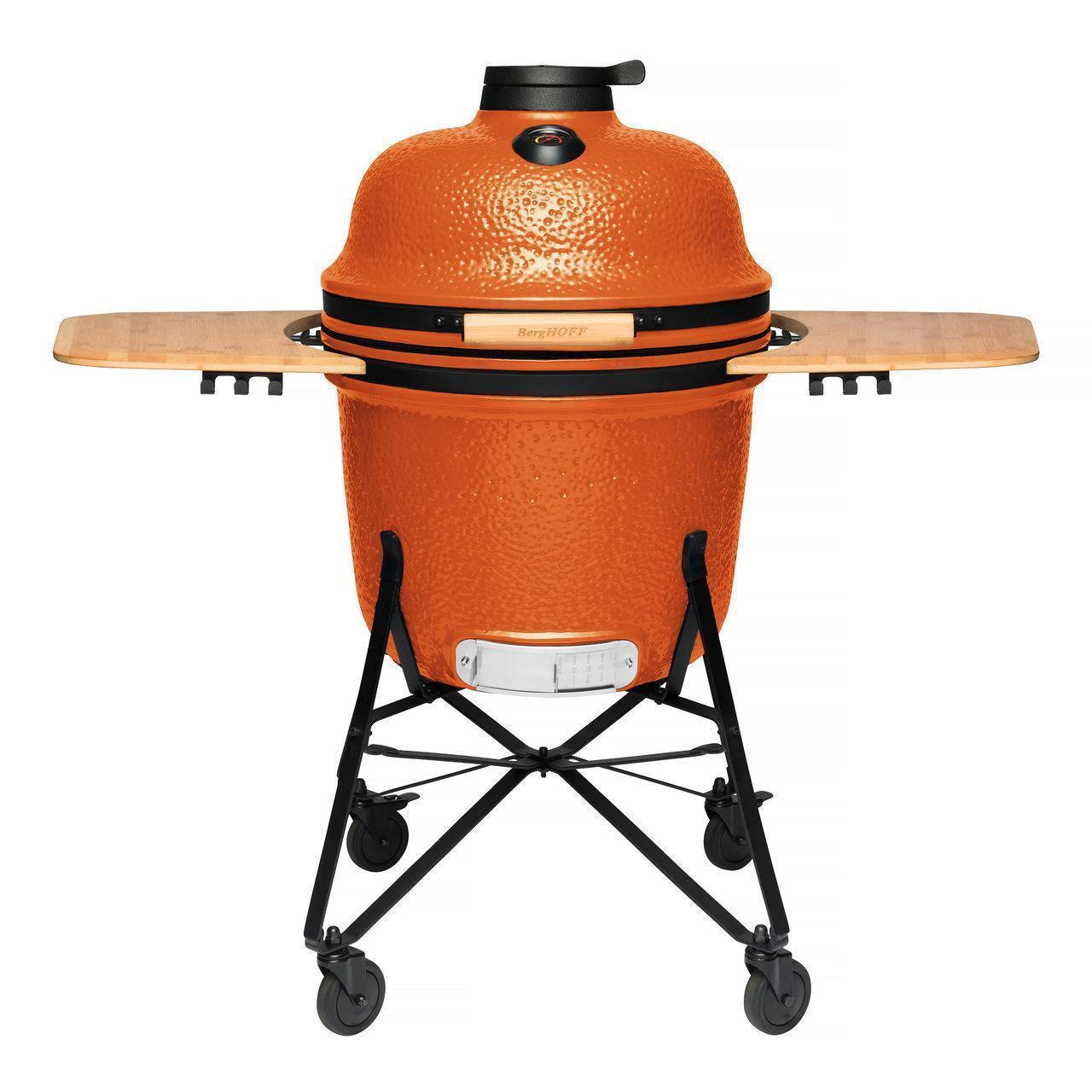 Керамический уличный гриль большой 135*58*120см (оранжевый) - 6 фото