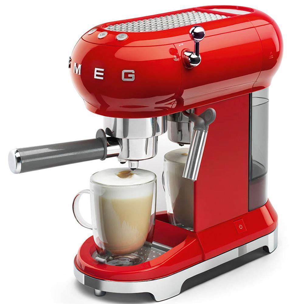 Кофемашина-эспрессо 30х33 см Smeg 50's Style ECF01RDEU красная - 5 фото