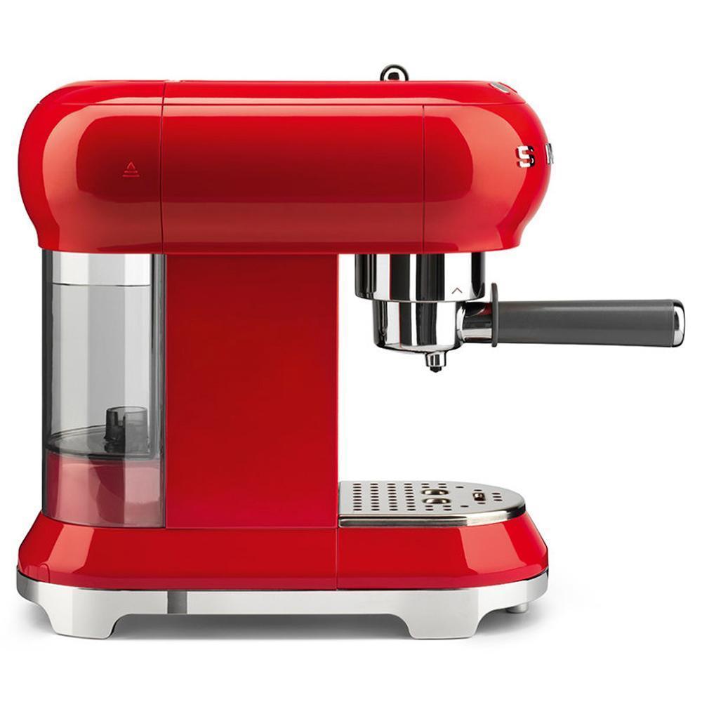 Кофемашина-эспрессо 30х33 см Smeg 50's Style ECF01RDEU красная - 1 фото