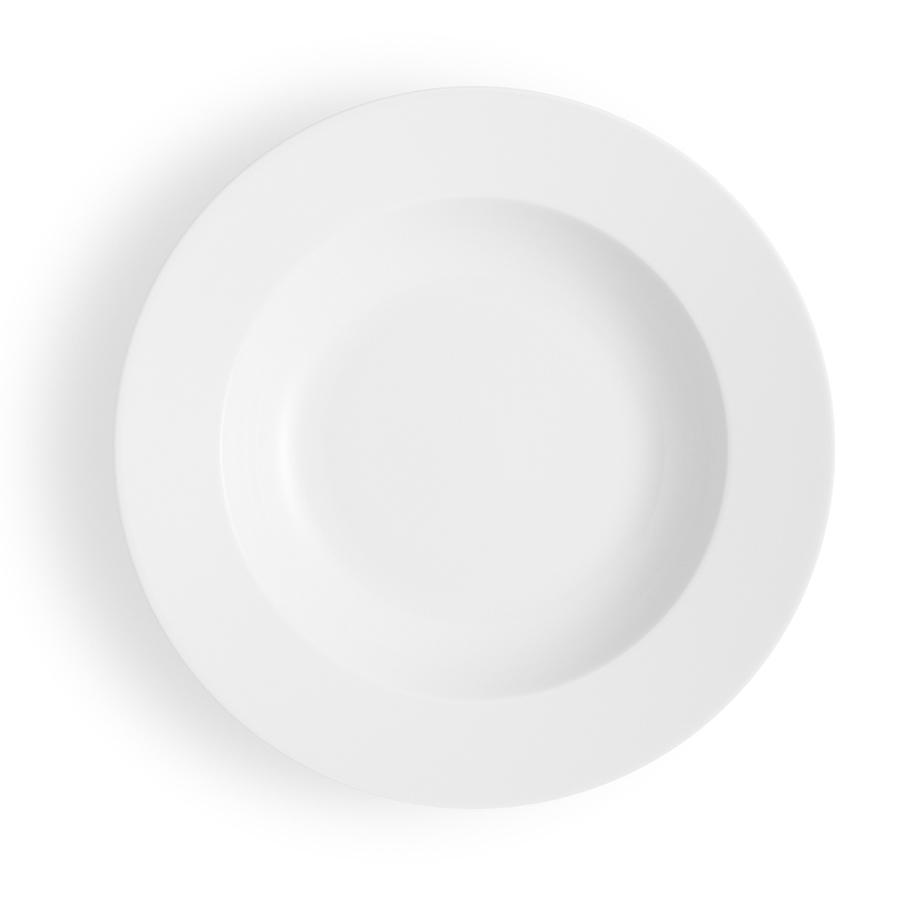Тарелка суповая 25 см  Legio белая - 2 фото
