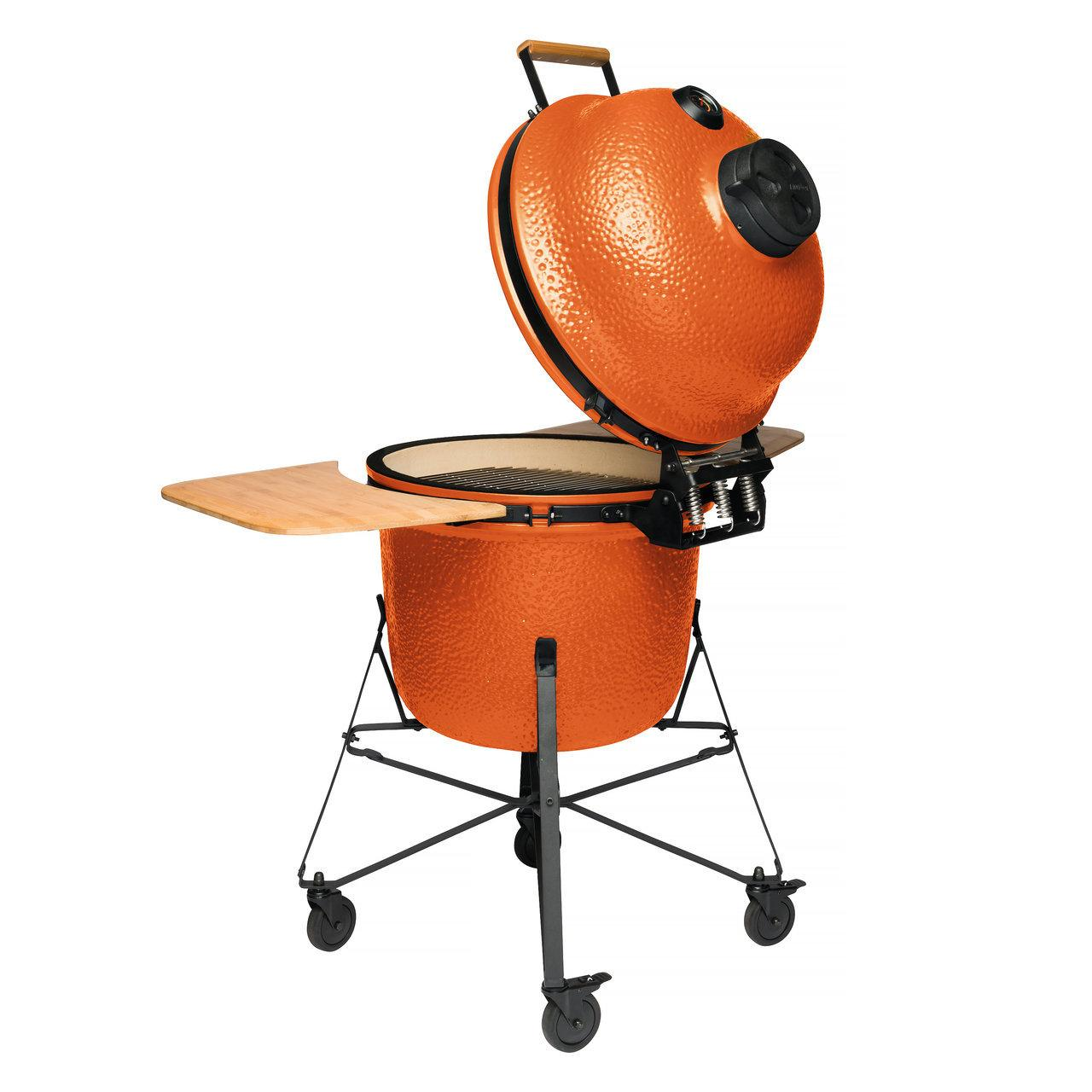 Керамический уличный гриль большой 135*58*120см (оранжевый) - 2 фото