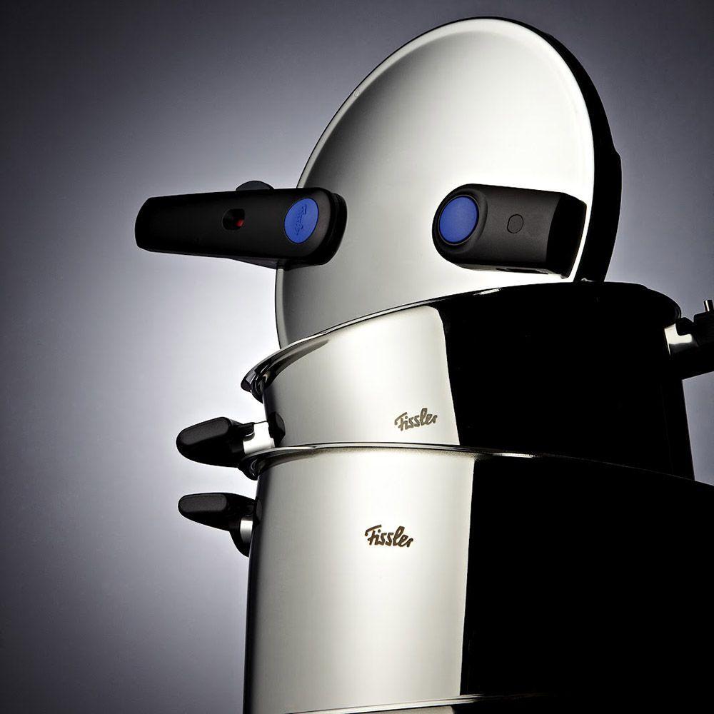 Скороварка с паровой вставкой 22 см; 3,0 л / 4,5 л Fissler Vitavit Premium - 2 фото
