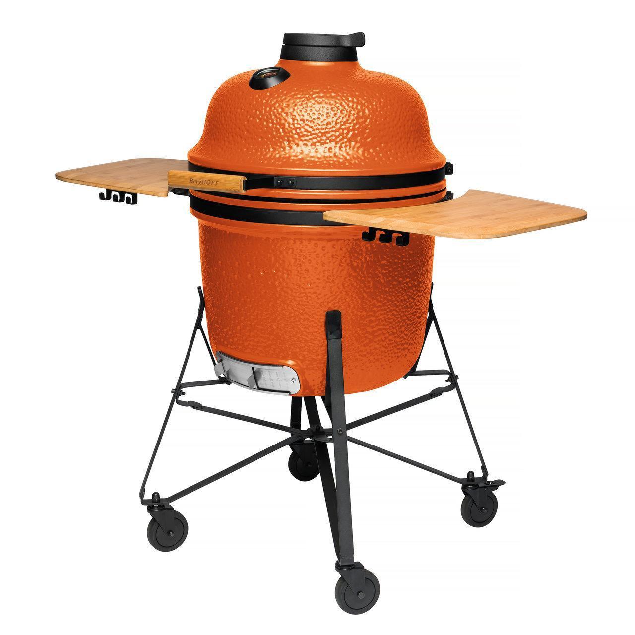 Керамический уличный гриль большой 135*58*120см (оранжевый) - 5 фото