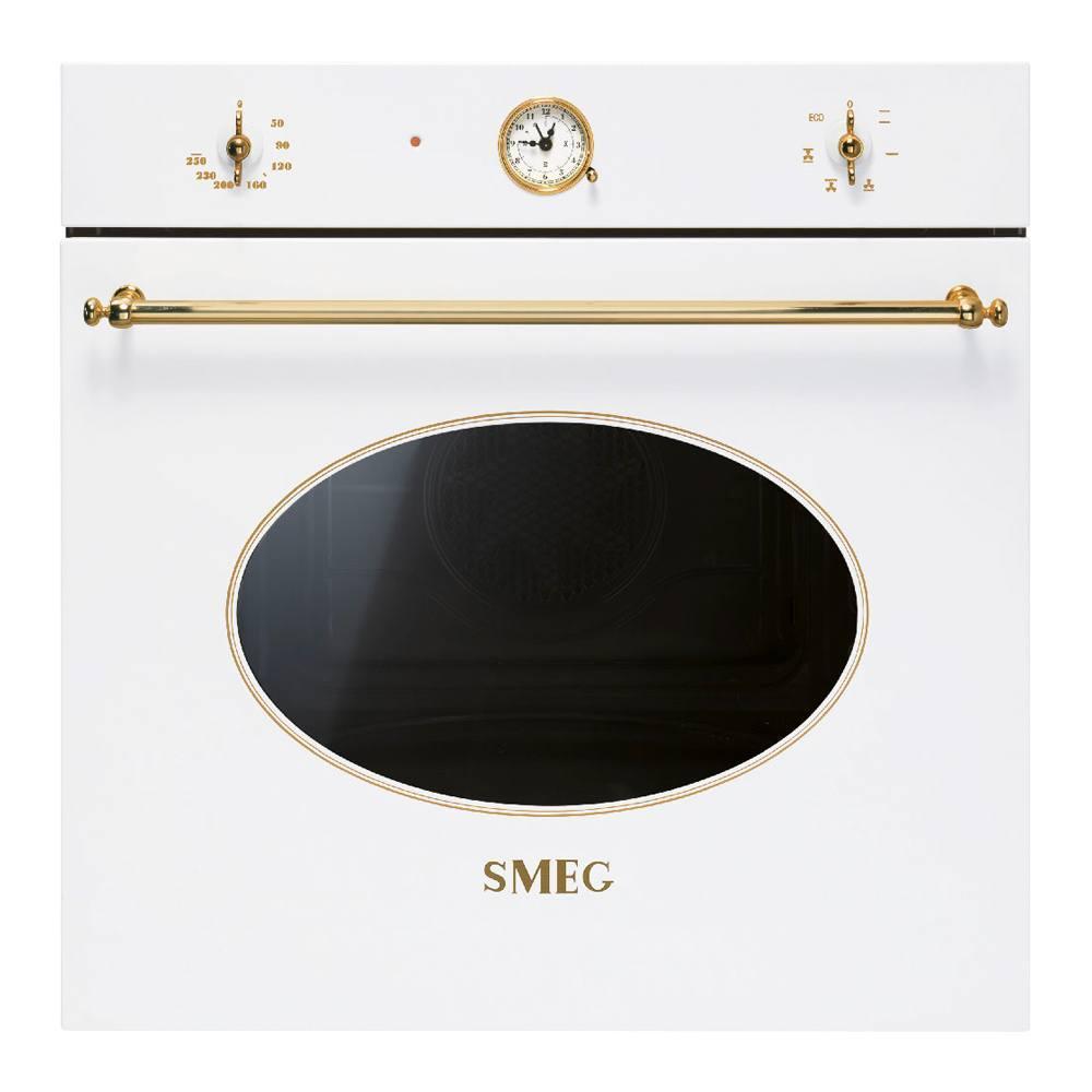 Многофункциональный духовой шкаф 60 см Smeg Coloniale SF800B белый - 1 фото