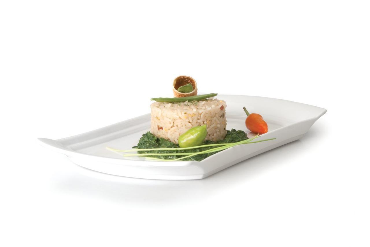Блюдо прямоугольное сервировочное 340*184 мм Concavo - 2 фото