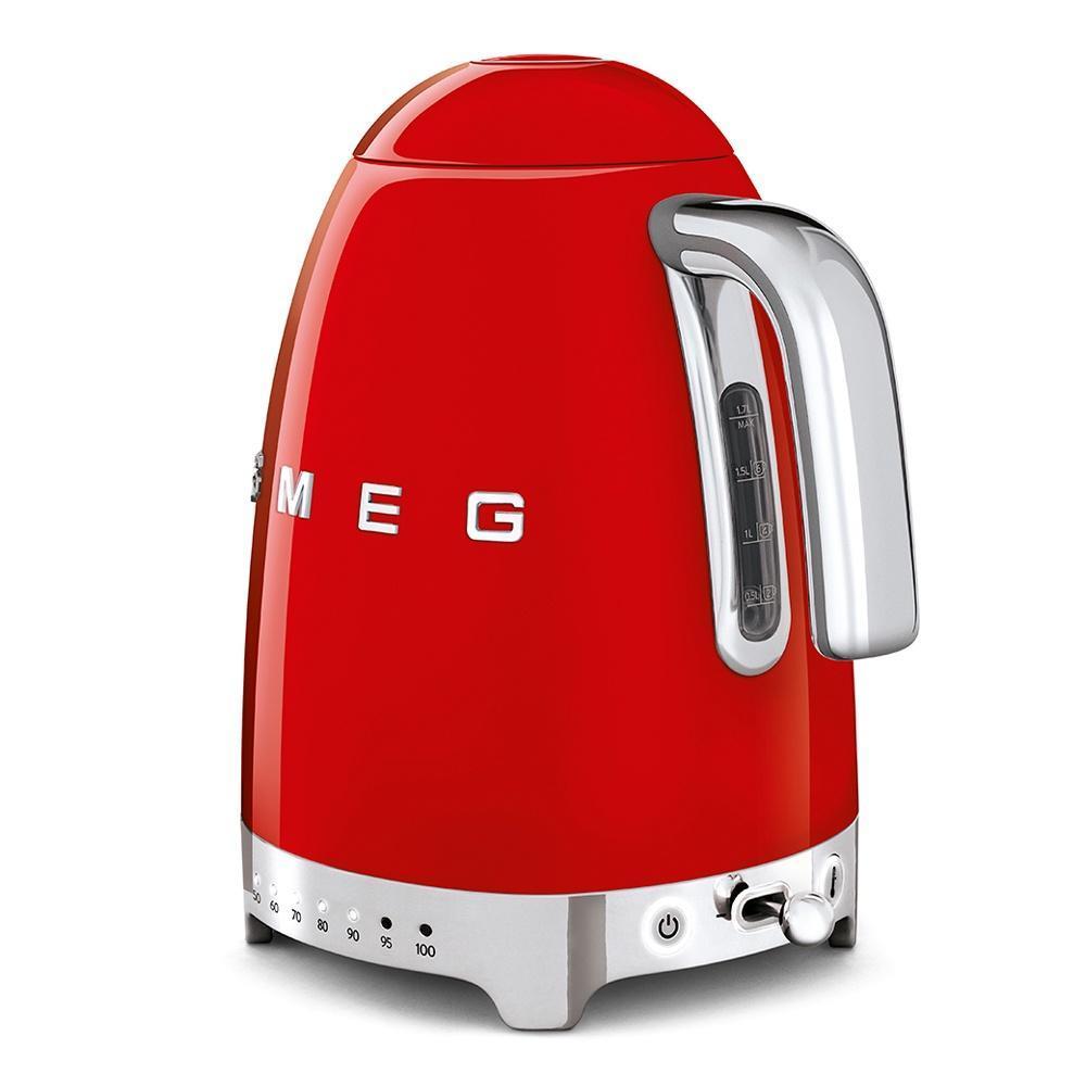 Чайник электрический 1,7 л Smeg 50's Style KLF04RDEU красный - 2 фото