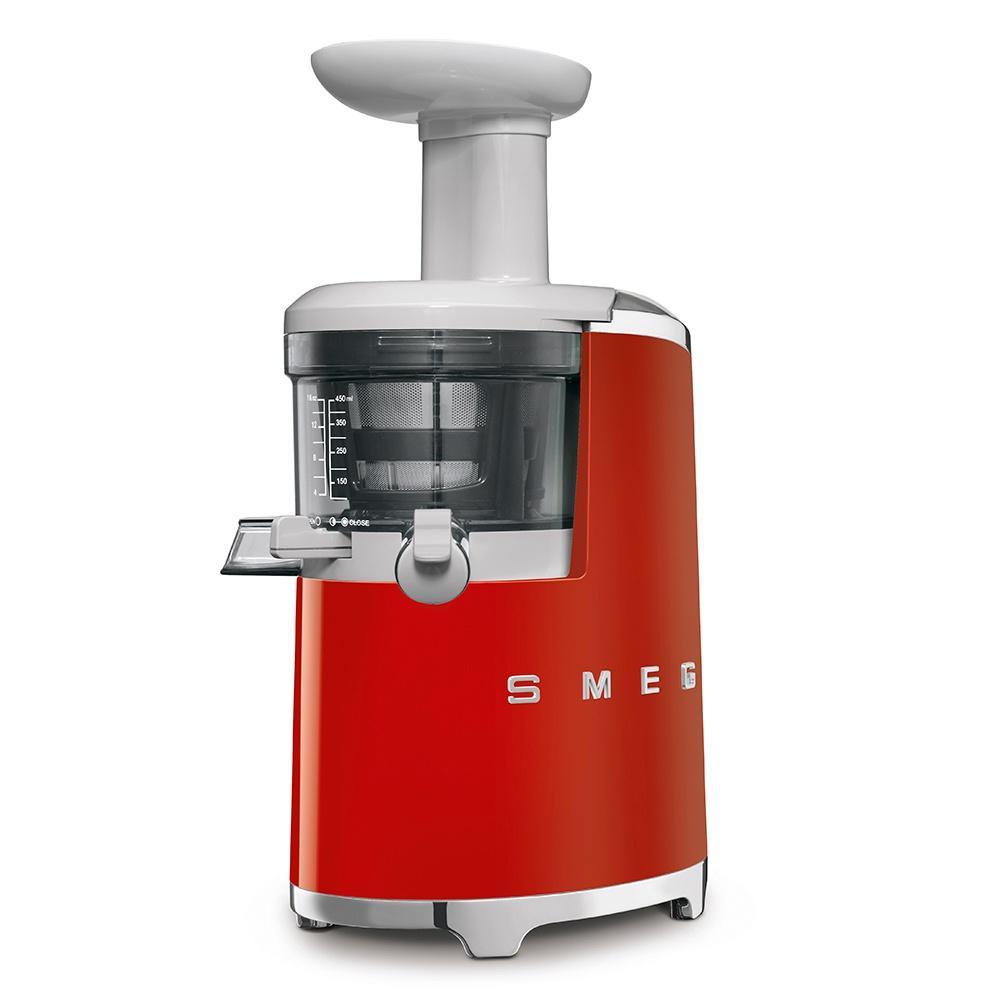 Соковыжималка шнековая 17х41 см Smeg 50's Style SJF01RDEU красная - 2 фото