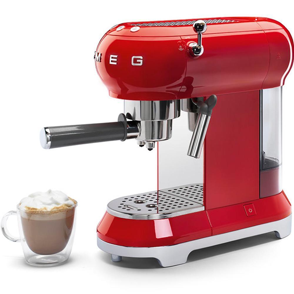 Кофемашина-эспрессо 30х33 см Smeg 50's Style ECF01RDEU красная - 6 фото