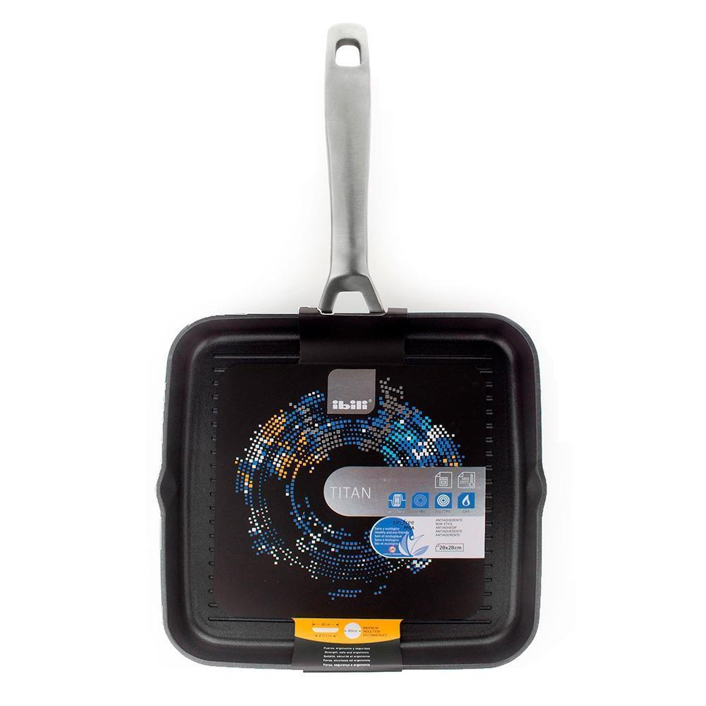 Сковорода-гриль антипригарная 28 см Ibili Titan - 5 фото