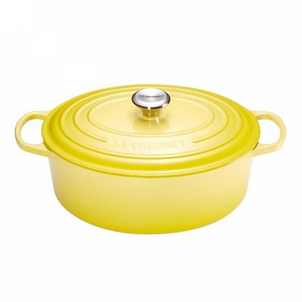 Кастрюля чугунная 27 см 4,1 л Le Creuset Signature желтая - 1 фото