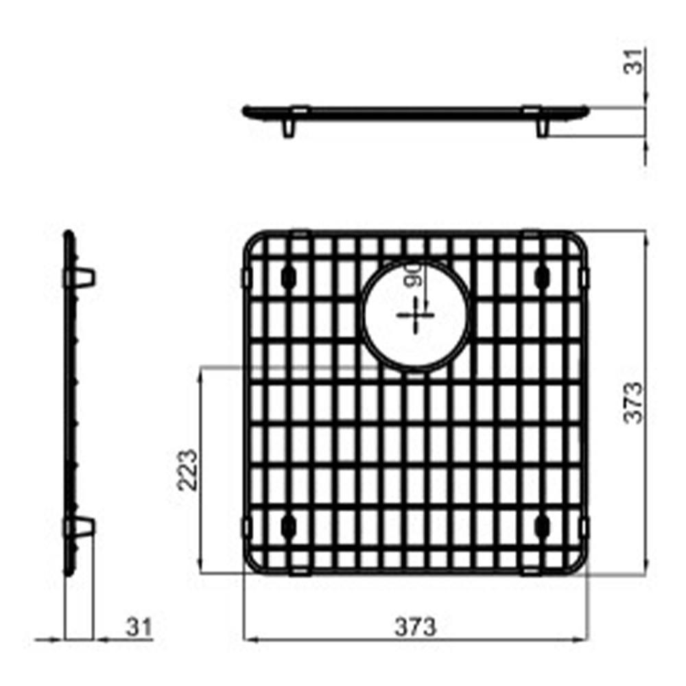 Решетка на дно мойки 37,3х37,3 см Reginox R1661 - 2 фото